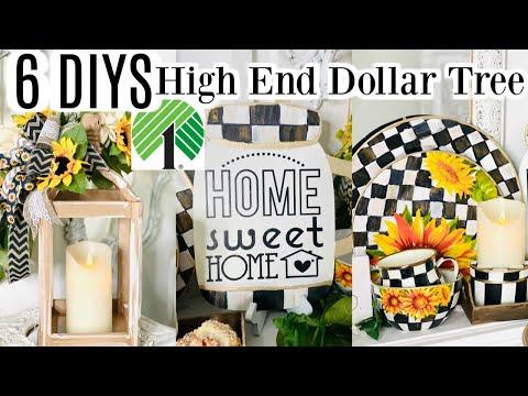 🎀6 DOLLAR TREE DIY HIGH END DECOR Summer/Fall 2020🎀 I Love Summer ep 12 Olivia's Romantic Home DIY