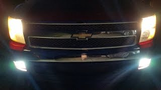 2007 Chevy Silverado Fog Light Fixture And LED Bulb Replacement/ Upgrade ( How I Did It)