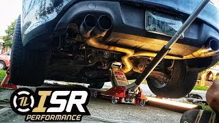 isr race exhaust guide almost straight pipe genesis coupe
