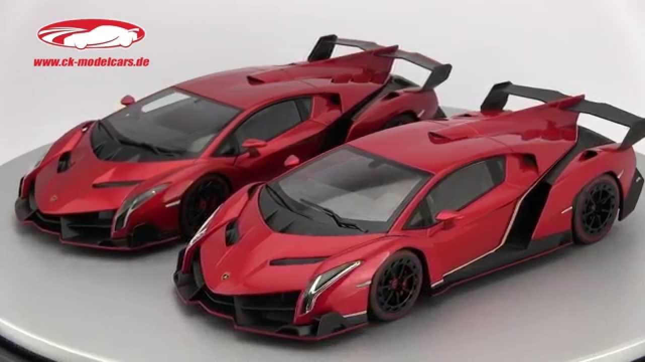 ck-modelcars-video: comparison between lamborghini veneno autoart