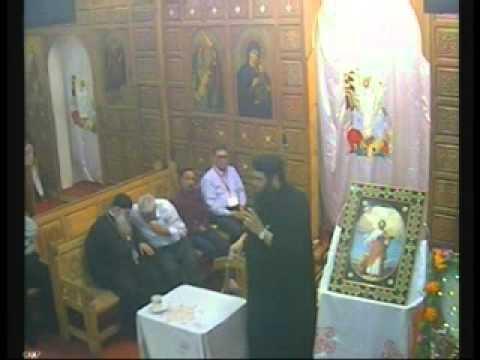 كنيسة مارجرجس غيط العنب عشية مارمرقص أجتماع الرجال 2014