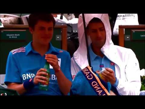 HD Funny Moments In Tennis  Djokovic, Nadal, Federer,Ivanovic, Serena Williams, Sharapova