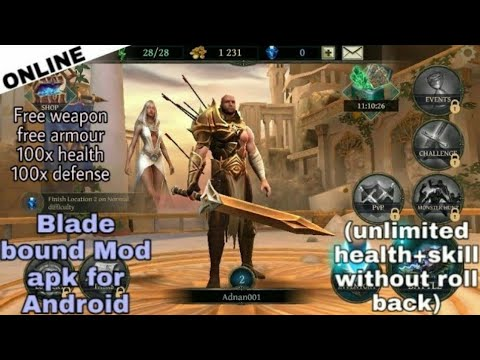 Blade Bound Legendary Hack And Slash Action Mod Apk For Android V2.2.4 | Free Armour, Weapon Etc