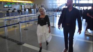 Lady Gaga spotted at LAX airport