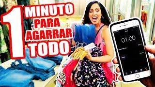 1 MINUTO PARA AGARRAR TODO LO QUE QUIERAS EN UNA TIENDA! RETO EXTREMO de Outfits - SandraCiresArt thumbnail