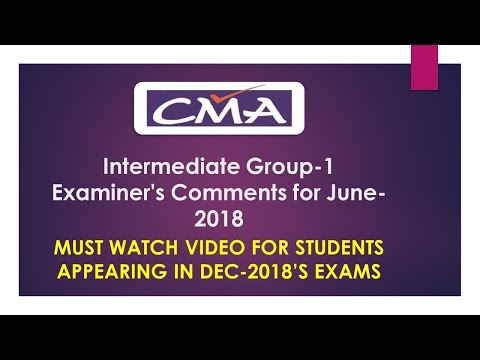 Must Watch | CMA-INTER Group-1| Examiner's Comment Summary |