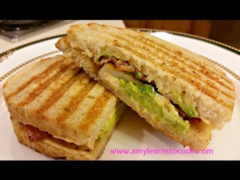 Chicken, Bacon, and Avocado Panini with Chipotle Aioli Cuisinart Griddler GR-4N