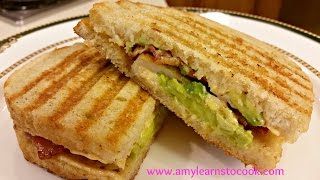 Chicken, Bacon, And Avocado Panini With Chipotle Aioli - Cuisinart Griddler Gr-4n