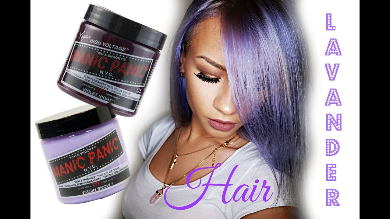 How To Lavender Hair With Manic Panic Vegan Hair Dye Youtube