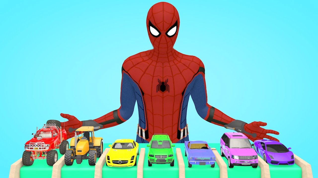 Guess the toy car model with Spiderman
