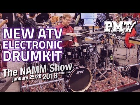 NAMM 2018   New ATV Electronic Drum Kit Demo