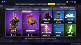 NEW GUAN YU SKIN + RARE FINGER GUNS EMOTE: Fortnite Item Shop