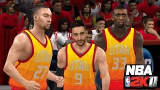 NBA 2K11: Utah vs. Houston | PC Gameplay with 2017-18 Mods