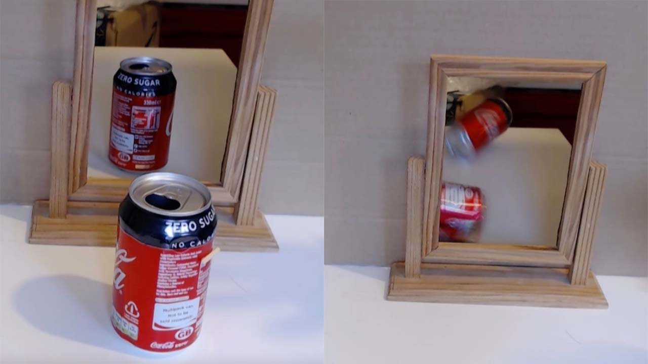 Amazing Soda Can Mirror Illusion