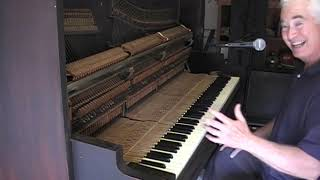 Old Saloon piano in tune...