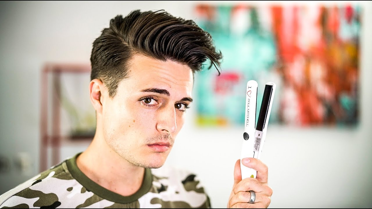 how to use hair styling products how to use a hair straightener the right way mens hair 5851