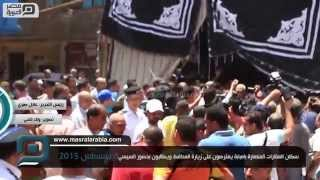 بالفيديو| سكان عقارات إمبابة المهدمة للمحافظ: عاوزين السيسي
