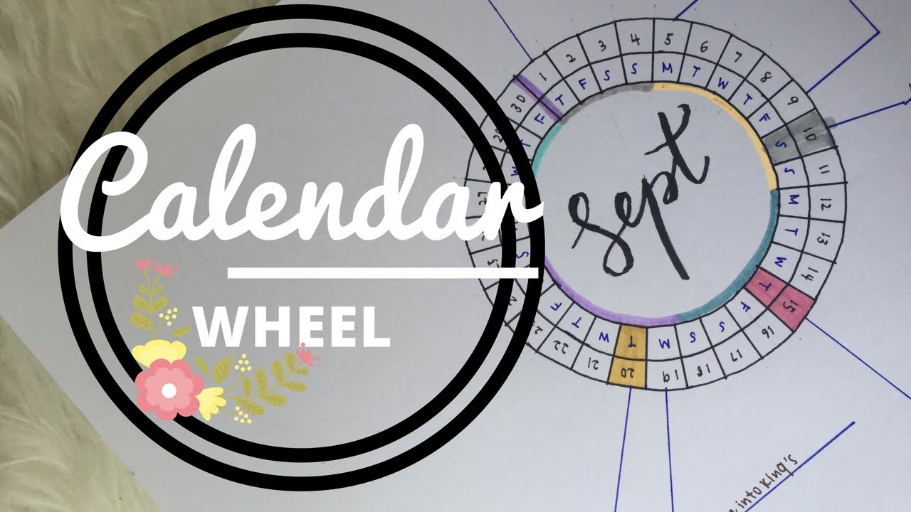 Calendar Wheel Bullet Journal : How to calendar wheel youtube