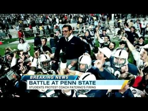 Joe Paterno Fired by Penn State Board of Trustees, President, Riot Video Reveals Students