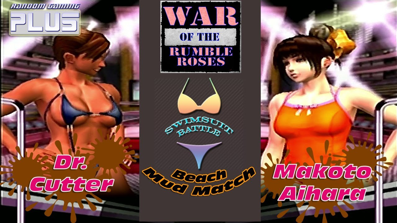 War of the Rumble Roses Swimsuit Battle Beach Mud Match ...
