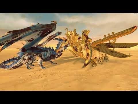 Sphinx Of Usekph (Necrosphinx) VS Star Dragon - Tomb Kings - Total War: Warhammer 2