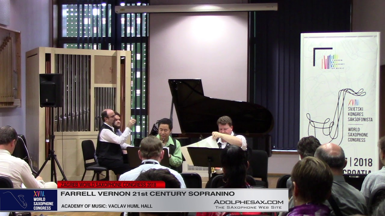 Suite for Two Sopranino and Piano 4th mov by Dalen Wuest   Farrel Vernon  XVIII World Sax Congress 2