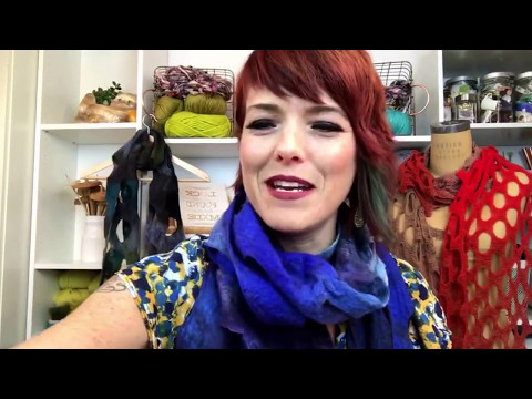 Makers' with Vickie: How to Make an Artfelt Holey Scarf (Felted)