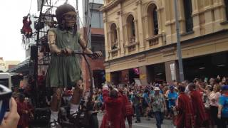 Giants - Royal de Luxe at Perth International Arts Festival 2015 - Girl on Scooter
