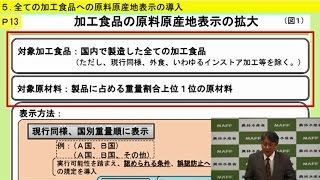 05全ての加工食品への原料原産地表示の導入(農業競争力強化プログラム)