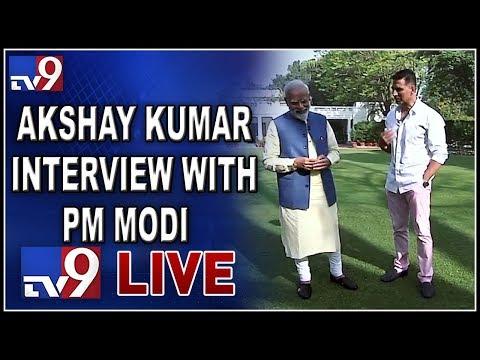 Akshay Kumar\'s Non-Political Interview With PM Narendra Modi LIVE - TV9