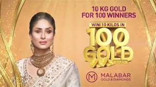 Win up to 10 Kilos of Gold for 100 winners at Malabar Gold & Diamonds- Kuwait