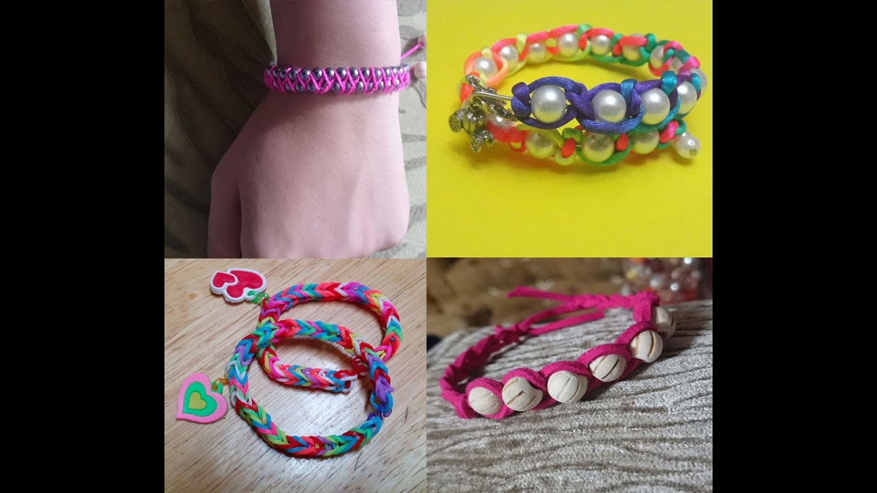 4 Easy DIY Bracelet Projects - Easy handmade Jewelry for Girls ...