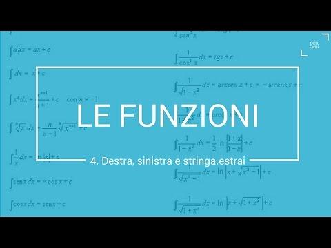 Le Funzioni Sinistra, Destra e Stringa.Estrai - Excel Facile