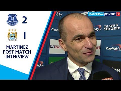Everton 2-1 Manchester City : Roberto Martinez Interview