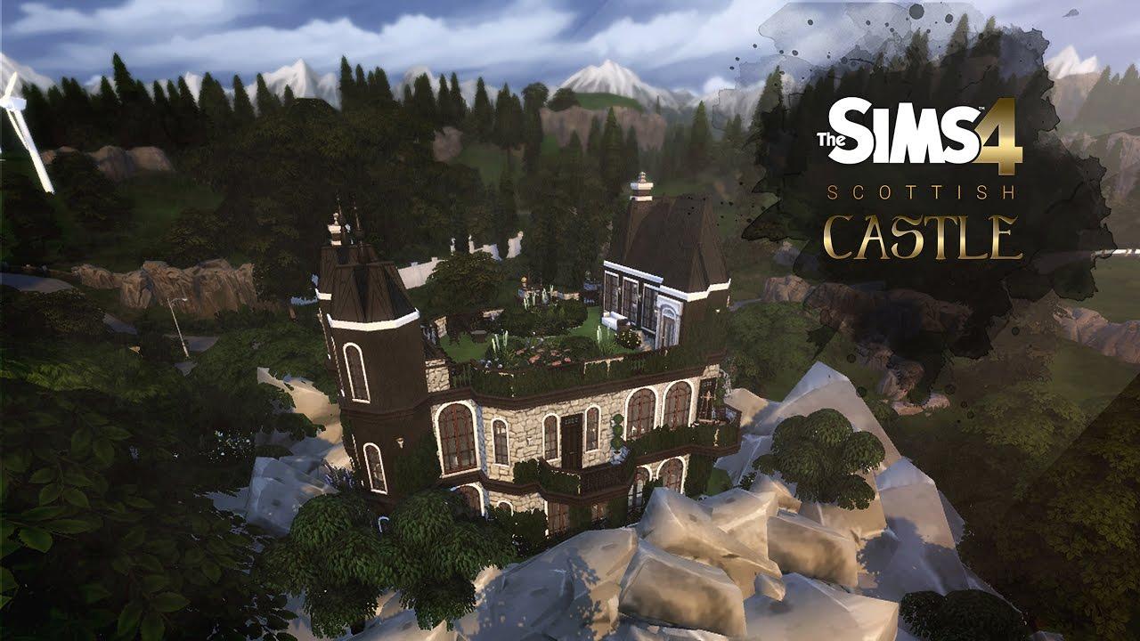 THE SIMS 4 | CASTELO ESCOCÊS | SPEED BUILD - YouTube