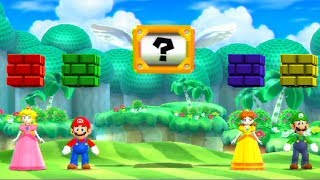 Mario Party 9 - Minigames - Peach vs Daisy vs Mario vs Luigi