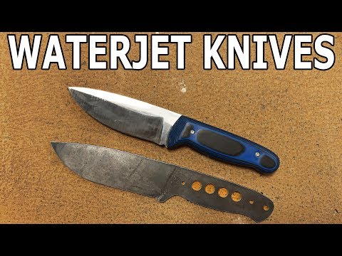 Knife Making with a 60000 PSI Waterjet