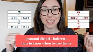 How to know when to use PRONOMI DIRETTI or INDIRETTI? (Italian audio) | Learn Italian with Lucrezia