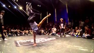 B Boy Salo  (Flying Legs Crew Venezuela) hand hop to head freeze  so crazy