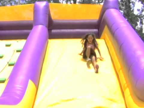 Tomball Party Rentals - Rockwall With Slide Inflatable