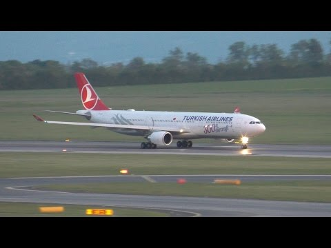 Turkish Airlines A330-300 [300th Aircraft Livery!] Sunset Departure @ VIE