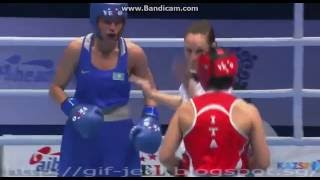 aiba donne boxe ALBERTI Valentina italy vs TSOLOYEVA Zarina  Kazakhstan