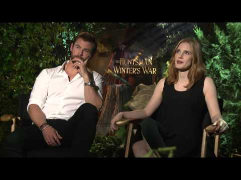 The Huntsman Winter's War Interview - Chris Hemsworth & Jessica Chastain
