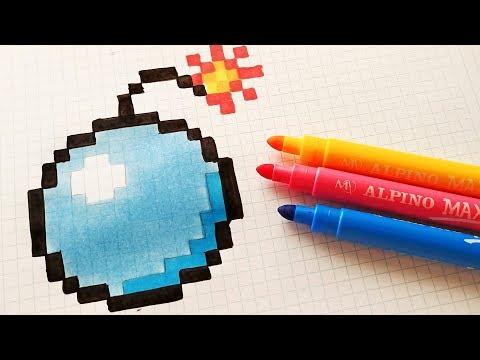 handmade pixel art how to draw a bomb pixelart. Black Bedroom Furniture Sets. Home Design Ideas