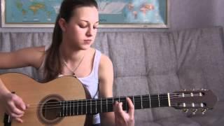 cover танцы минус - половинка guitar cover by Алёнка Захарова