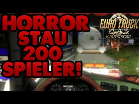 ETS2 Heavy Cargo Multiplayer #17 - Horror Stau 200 Spieler!  - ETS 2 Multiplayer
