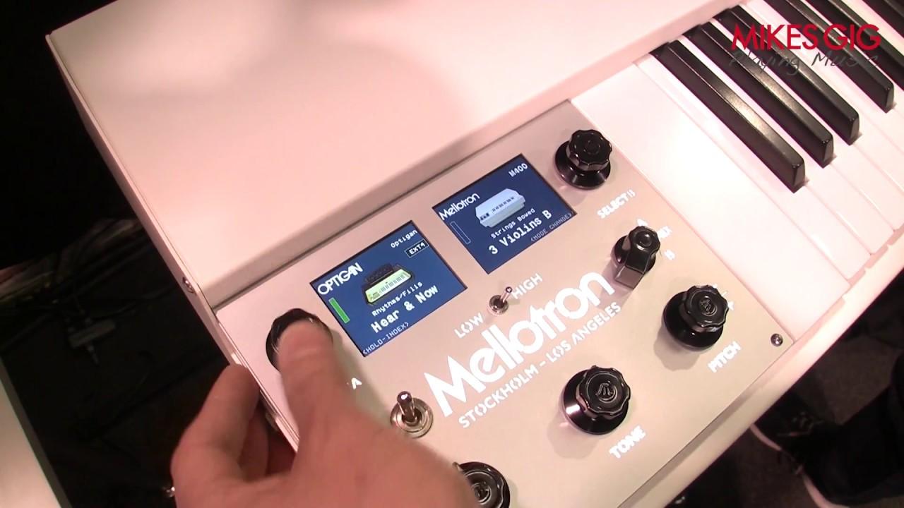 Mellotron Mini and Mellotron Micro at NAMM 2018 | MikesGigTV