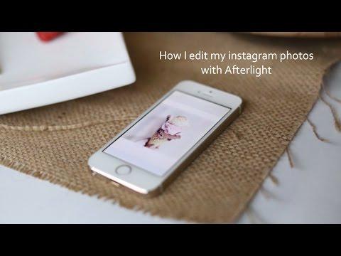 Tutorial How I edit my instagram photos using Afterlight
