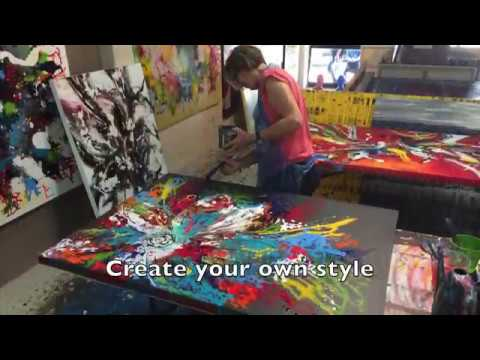 Abstract Art Classes One-on-One Sydney Studio Learn to Paint Lessons