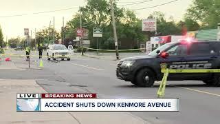 Crash shuts down Kenmore Avenue in Town of Tonawanda